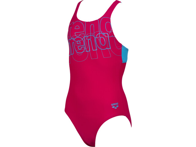 arena Spotlight Swim Pro Back Maillot de bain une pièce Fille, freak rose/turquoise